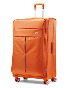 Orange American Tourister Colora Spinner #PackingSpree!