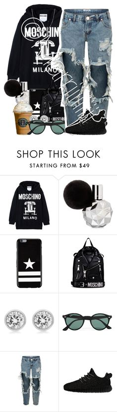 """Average Saturday"" by marriiiiiiiii ❤ liked on Polyvore featuring Moschino, Givenchy, Michael Kors, Ray-Ban, One Teaspoon, adidas Originals and Fremada"