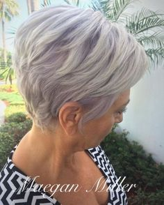 90 Classy and Simple Short Hairstyles for Women over 50 - Pastel Purple Layered Pixie Bob - Purple Grey Hair, Grey Hair Over 50, Purple Haze, Short Grey Hair, Short Hair With Layers, Short Hair Cuts For Women, Pastel Purple, Medium Bob Hairstyles, Short Hairstyles For Women