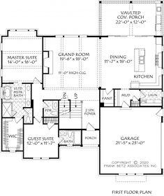 Ranch House Plans, New House Plans, House Floor Plans, Frank Betz, Plan Front, Construction Documents, Building Section, Modern Farmhouse Design, Floor Framing