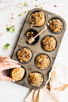 Naturally Sweetened Breakfast Muffins - NO added sugar because they're sweetened with dates! Great for back to school, breakfast on the go. Grain free, paleo, and delicious! Healthy Breakfast Muffins, Breakfast On The Go, School Breakfast, Vegetarian Breakfast, Cheap Clean Eating, Clean Eating Snacks, Paleo Muffin Recipes, Brunch Recipes, Free Recipes