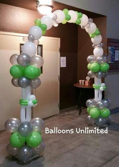 Balloon Arch Balloon Ideas, Balloon Arch, Balloon Decorations, Photos On Facebook, Homecoming Ideas, Helium Balloons, Altar, Graduation, Birthdays