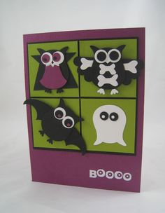 BOOOO!  I have been seeing some great ideas using the owl punch for quite a while and it has been on my list of things to play around with….so at last, here is my attempt at some owls in disguise. ...