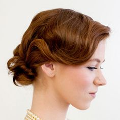 The Great Gatsby inspired hair look with tutorial Great Gatsby Hairstyles, 2015 Hairstyles, Party Hairstyles, Curled Hairstyles, Vintage Hairstyles, Wedding Hairstyles, Hairstyle Ideas, Amazing Hairstyles, Hairdos