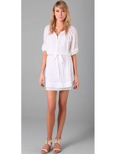 white dress - elbow-length sleeves