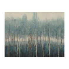 painted blue forest 90x120cm