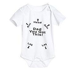 YOUNGER TREE Infant Baby Boys Girls Clothing Shirts Short Sleeves Rompers Jumpsuit Funny Letter Printed Black Onesie