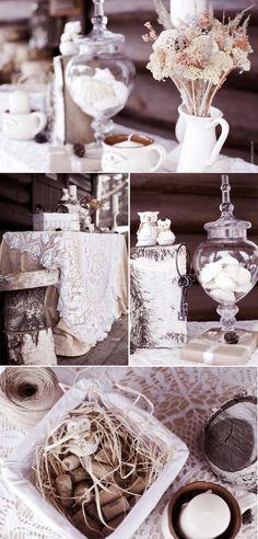 Déco mariage hiver au charme rustique ou d'une féerie hivernale en 35 photos