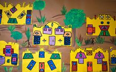 More Ndebele Houses by paintedpaper, via Flickr