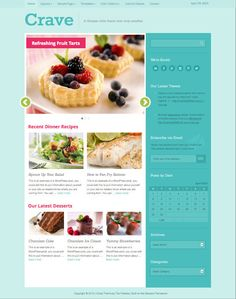 Crave WordPress Magazine Theme for Cooking Blogs by Themes , via Behance