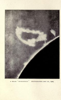 A solar prominence. May 21, 1907. Curiosities of the sky. 1909.