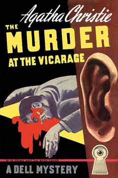 Remember, if it's bloody, it must be a paperback. Murder At The Vicarage by Agatha Christie