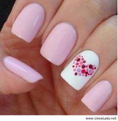 Pink nail art idea