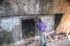 """Here famous author of Mayan mysteries John Major Jenkins inspects a """"false door"""" in a cave that even many local people do not know about…"""