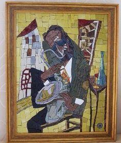 """Музкант"""" мозаика из смальты"""