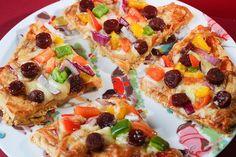 Rach Eats Lunch: Mini Meat Feast Pizza