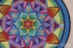 Liona hotta shop: dot art mandala painting on canvas. Mandala Art, Mandalas Painting, Mandalas Drawing, Zentangle, Wallpaper Colour, Tattoo Espalda, Painted Rocks, Hand Painted, Round Canvas