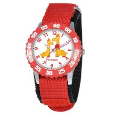 Red Balloon Kid's Jungle Animals Time Teacher Watch in Red