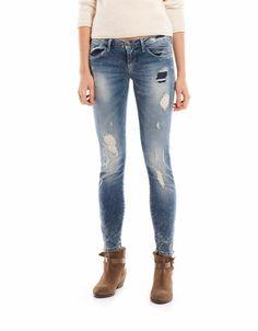 Bershka Hungary - Bershka rip detail jeans