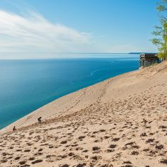 Sleeping Bear Dunes National Lakeshore, MI      A truly incredible gem hidden in Middle America, Michigan's Sleeping Bear Dunes National Lakeshore offers a diverse area of woods, beaches, and fields, not to mention incredible sand dunes that give the place its name.