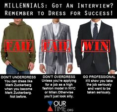 Wearing inappropriate clothing is the biggest interview mistake young adults make, according to a new survey of hiring managers. Remember to dress professionally if you want to be taken seriously!