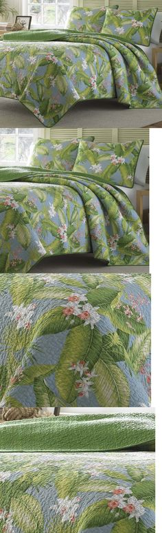 Quilts Bedspreads and Coverlets 175749: Full-Queen Tommy Bahama Blue Green Tropical Quilt Set 3-Pc Cotton Bedding Cover -> BUY IT NOW ONLY: $102.5 on eBay!