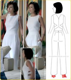 diy – molde corte e Diy Fashion, Ideias Fashion, Fashion Design, Tulum, Patron Vintage, Diy Vetement, Look Chic, Dress Codes, Refashion