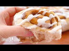 Dessert Videos - The Fluffiest Cinnamon Rolls Recipe ( BEST Cinnamon Rolls Recipe) Cinnamon Rolls From Scratch, Best Cinnamon Rolls, Baking Recipes, Dessert Recipes, Desserts, Dessert Bars, Bread Recipes, Goody Recipe, Croissant Recipe