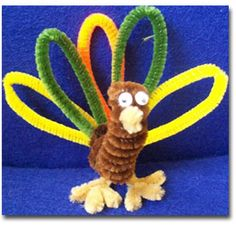 Pipe cleaners pipes and spider on pinterest for Pipe cleaner turkey craft