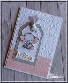 Wedding Tutorial and Ideas Kids Cards, Baby Cards, Baby Scrapbook, Stamping Up, Note Cards, Making Ideas, My Books, Elephant, Card Making