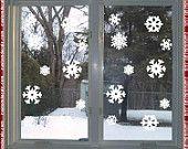 Snowflake Window Decals - Set of 24