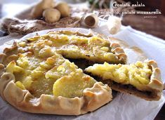 Crostata salata radicchio, patate, mozzarella