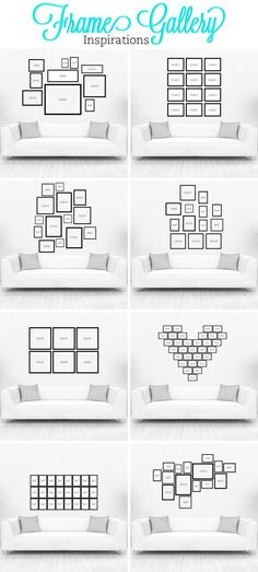 Ideas + Inspiration for creating a Gallery Wall in any room of the home.: