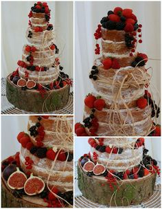Tiers & Tiaras: Rustic Raffia & Sumptuous Fruit Naked cake