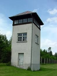 German guards killed in Guard Tower B during the liberation of Dachau Prisoners Of War, Water Tower, Eastern Europe, Towers, Germany, Around The Worlds, Cottage, Exterior, Camping