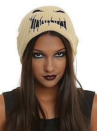 fa2ac496b10 COM - The Nightmare Before Christmas Oogie Boogie Slouch Beanie Christmas  Hat
