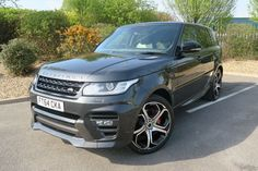 2014 Land Rover Range Rover Sport OVERFINCH 4.4SDV8 Autobiography with Rear Entertainment, Diesel, Automatic, Causeway Grey metallic, 16,171 miles at www.woldsideclassics.co.uk