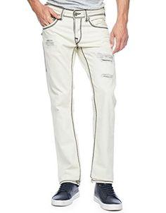 True Religion Mens Jeans Size 34 Straight Mega T Bleach Out Destroyed NWT $345 #TrueReligion #Straightleg