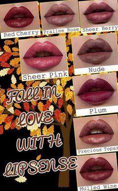 More great fall colors! #LipSense #TimelessEleganceByTara www.senegence.com/TimelessEleganceByTara: