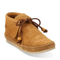 Tyler Weave in Cognac Suede - Womens Shoes from Clarks
