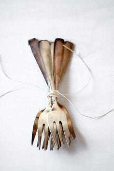 vintage dessert forks