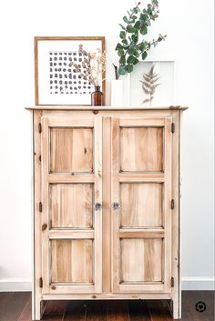 How to get this organic modern home decor look with everyday laundry bleach! Bleached Wood, Organic Modern, Playroom Ideas, China Cabinet, Entryway, Laundry, House Ideas, Bedroom, Blog