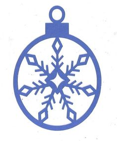 Snowflake 2 Christmas ornament by hilemanhouse on Etsy, $1.99