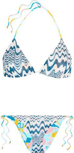 Missoni Isabella reversible crochet-knit triangle bikini