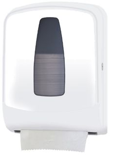 Special Offer San Jamar - Auto-Cut Towel Dispenser Hygienic hands-free mechanical dispensing in a mid-sized unit using full-sized roll with stub roll feature. Washroom, Towel, Industrial, The Unit, Hands, Cleaning, Free, Products, Laundry Room