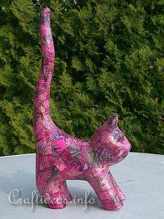 Decopatch Papermache Cat 2
