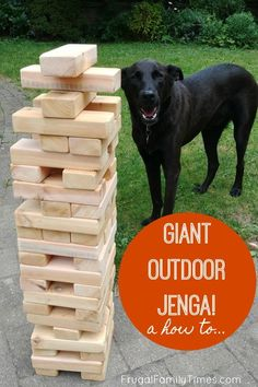 Outdoor games are so much fun! Here's how to build a GIANT OUTDOOR JENGA! If your planning a picnic or outside family event consider making a yard jenga.  These big jenga blocks can be made in an afternoon - on a budget - and even stored outdoors! #howto #outdoor #familygames #outdoorfun #kidsactivities #familyfun #easybuild #diy