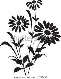 Illustration of Flower (silhouette) vector art, clipart and stock vectors. Flower Silhouette, Silhouette Painting, Silhouette Images, Silhouette Vector, Silhouette Design, Silhouette Cameo, Dremel Carving, Laser Cut Panels, Clip Art