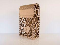 Engravable heart double bottle wine box by CustomEngravedArt