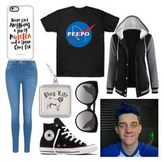 """Date with CrankGameplays"" by lynxxin ❤ liked on Polyvore featuring George, Converse, Casetify and Alexander McQueen"